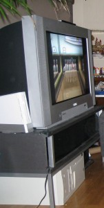 "The old fat TV with a ""media PC"" under it."